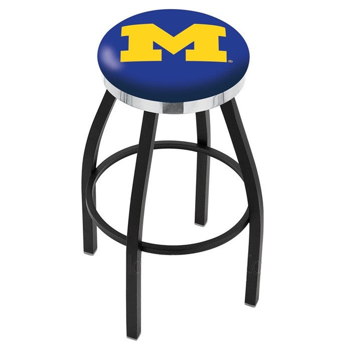 Michigan Wolverines Flat Ring Bar Stool - Sports Fans Plus