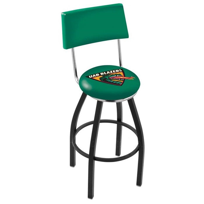 Alabama at Birmingham Blazers Black Bar Stool with Back - SportsFansPlus.com