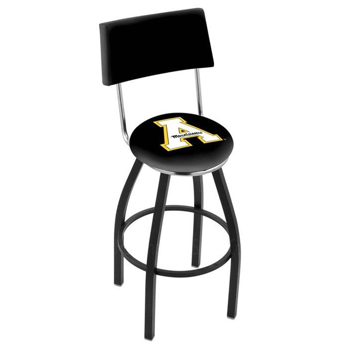 Appalachian State Mountaineers Bar Stool with Back - Sports Fans Plus - 1