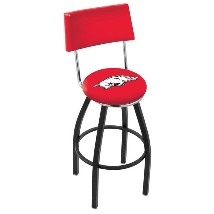 Arkansas Razorbacks Bar Stool with Back - Sports Fans Plus