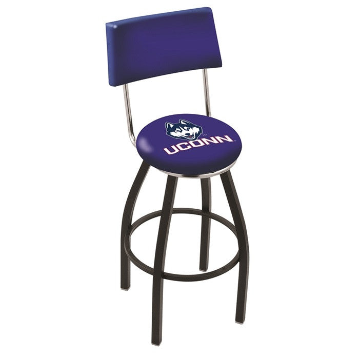 UConn Huskies Bar Stool with Back - Sports Fans Plus