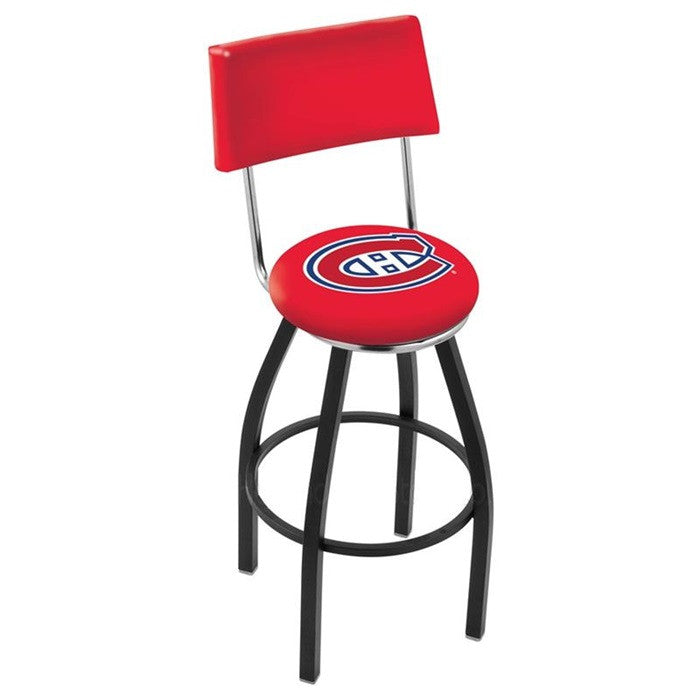 Montreal Canadiens Bar Stool with Back - Sports Fans Plus