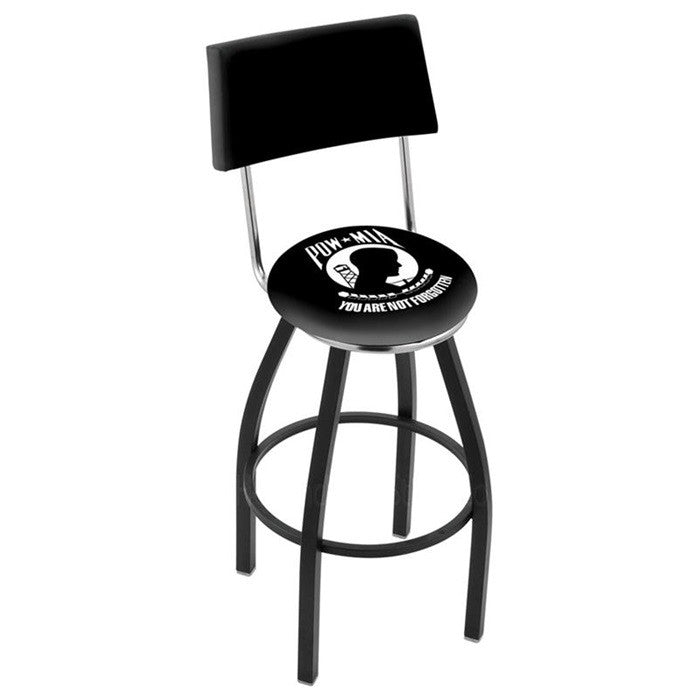 US POW-MIA Bar Stool with Back - Sports Fans Plus