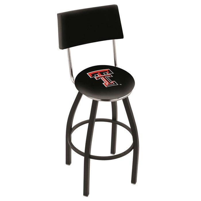 Texas Tech Red Raiders Bar Stool with Back - Sports Fans Plus