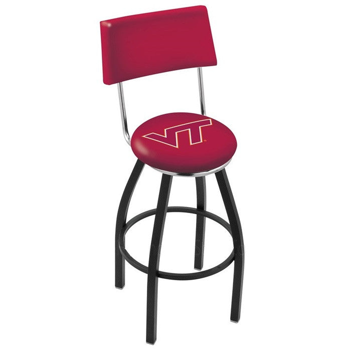 Virginia Tech Hokies Bar Stool with Back - Sports Fans Plus