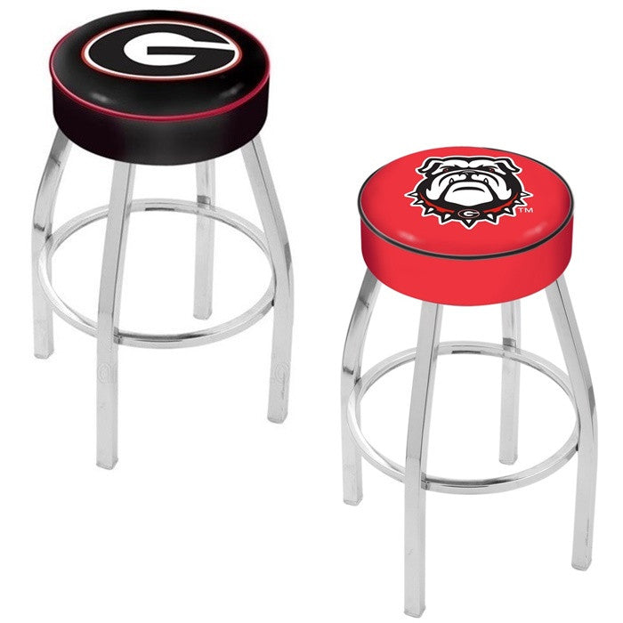 Georgia Bulldogs Chrome Bar Stool - Sports Fans Plus - 1