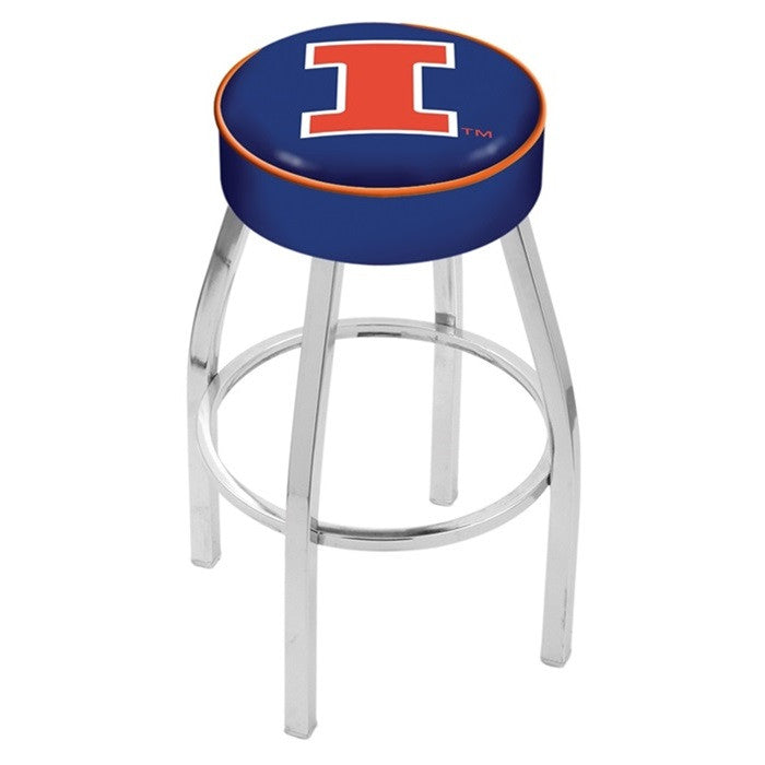 "Illinois Fighting Illini 4"" Seat Bar Stool - Sports Fans Plus"