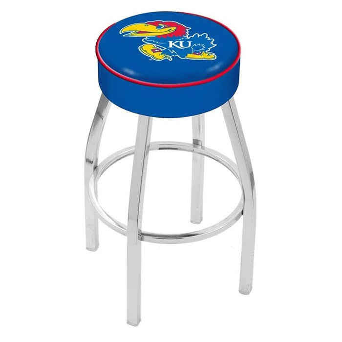 "Kansas Jayhawks 4"" Seat Bar Stool - Sports Fans Plus"