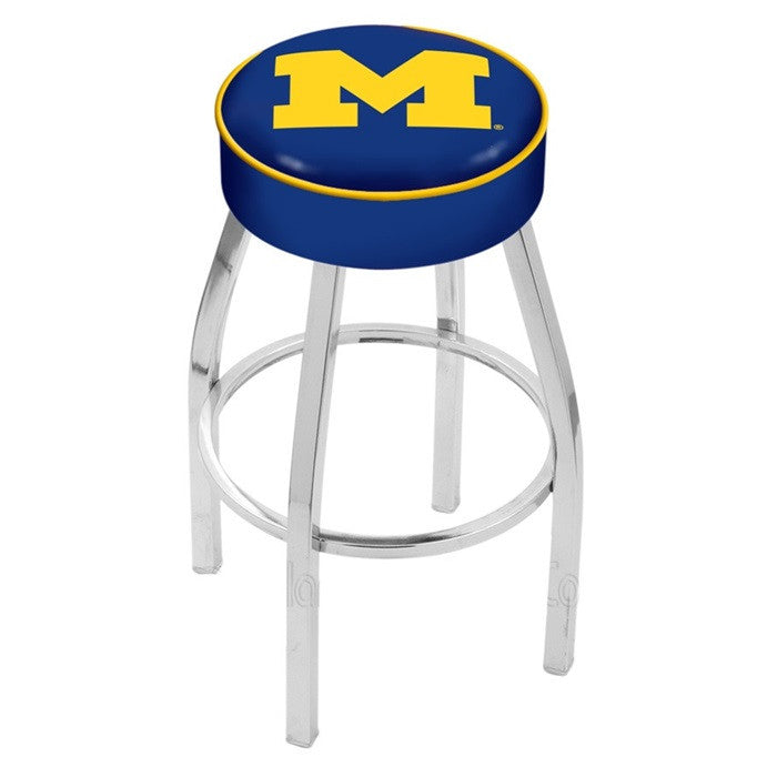 "Michigan Wolverines 4"" Seat Bar Stool - Sports Fans Plus"