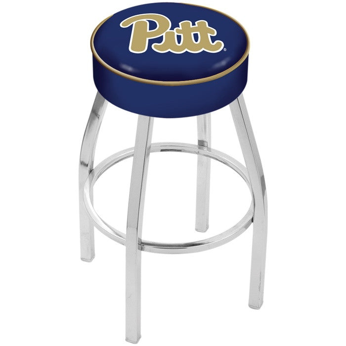 Pitt Panthers Chrome Bar Stool - Sports Fans Plus