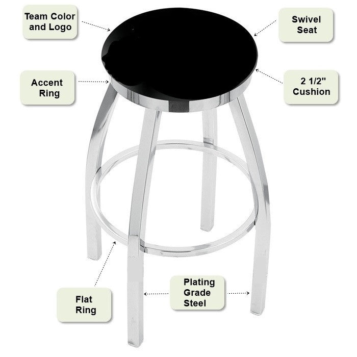 Chrome Flat Ring Bar Stool Features