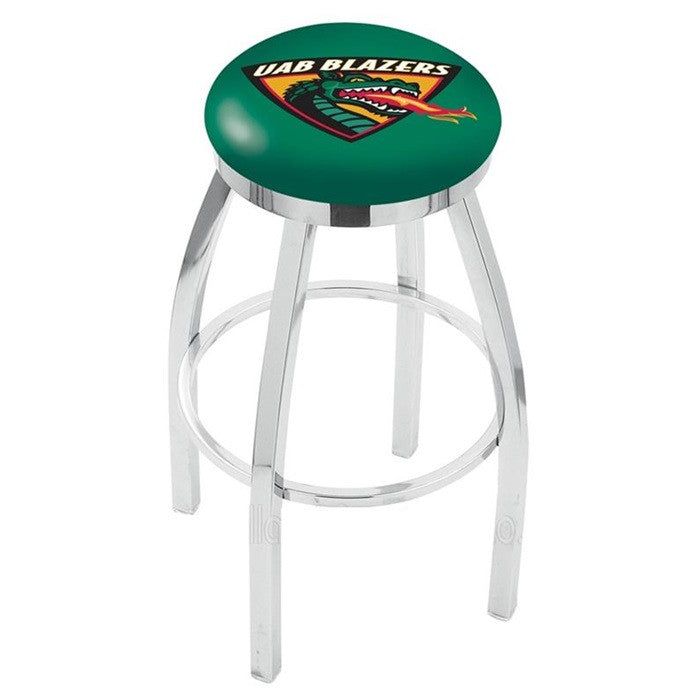 Alabama at Birmingham Blazers Chrome Flat Ring Bar Stool - SportsFansPlus.com