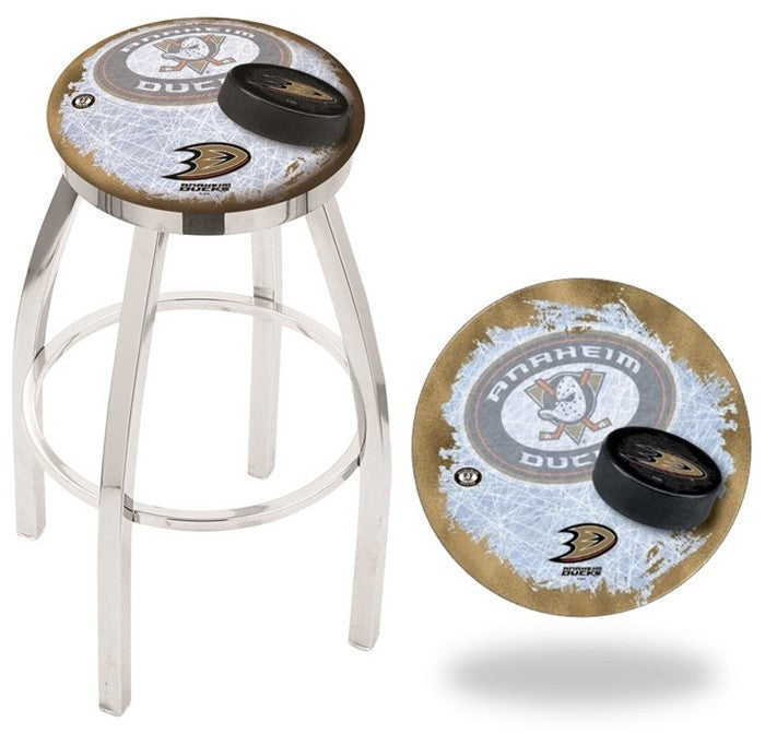 Anaheim Ducks NHL D2 Chrome Flat Ring Bar Stool
