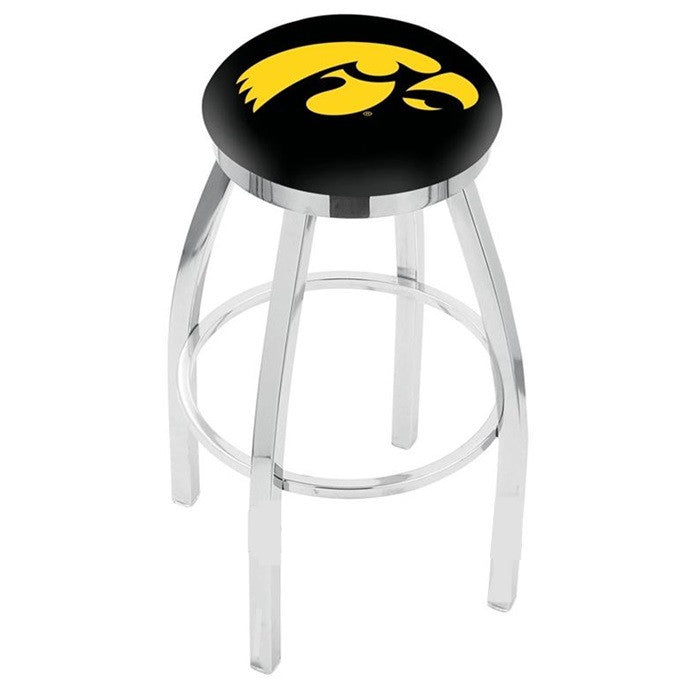 Iowa Hawkeyes Flat Ring Bar Stool - Sports Fans Plus
