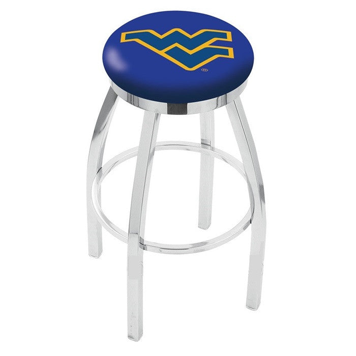 West Virginia Mountaineers Flat Ring Bar Stool - Sports Fans Plus