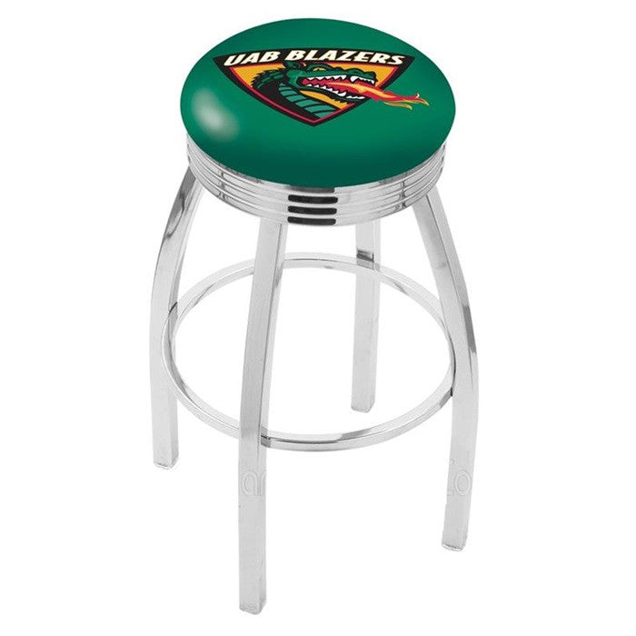 Alabama at Birmingham Blazers Chrome Ribbed Ring Bar Stool - SportsFansPlus.com