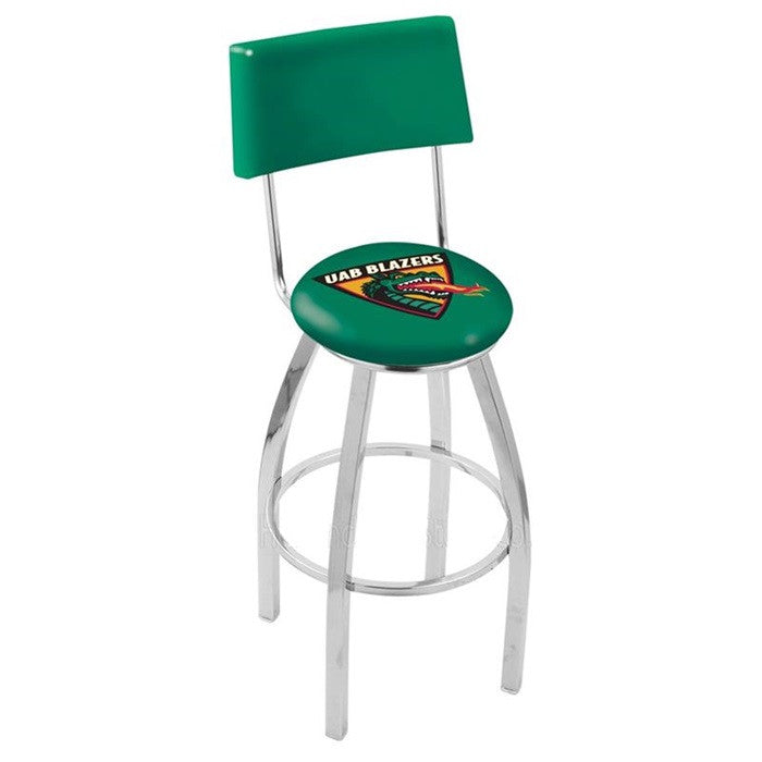 Alabama at Birmingham Blazers Chrome Bar Stool with Back - SportsFansPlus.com