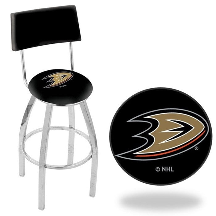 Anaheim Ducks NHL D1 Chrome Bar Stool with Back