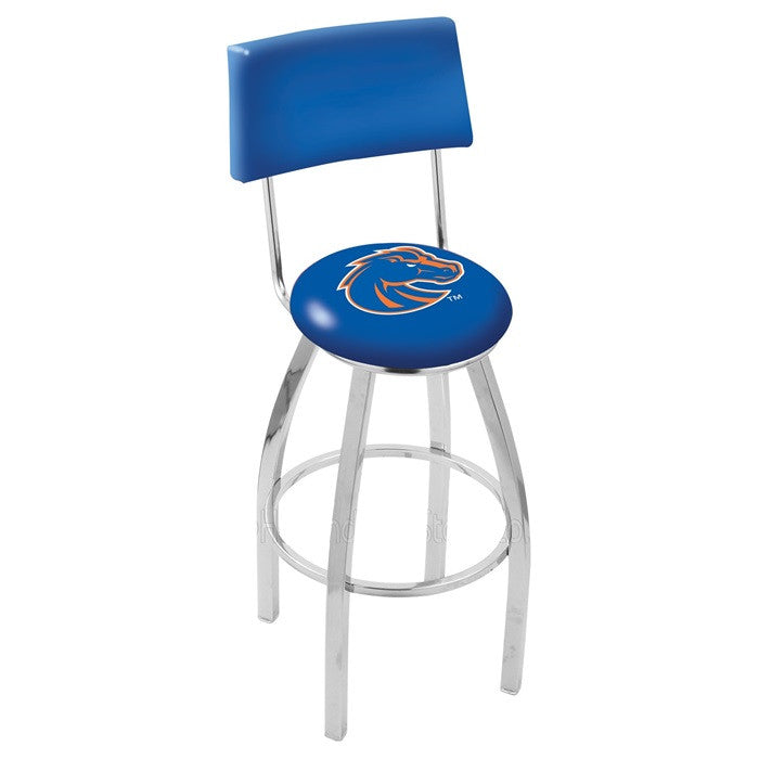 Boise State Broncos Bar Stool with Back - Sports Fans Plus
