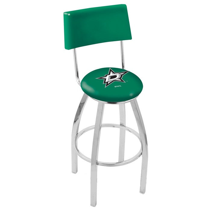 Dallas Stars Bar Stool with Back - Sports Fans Plus