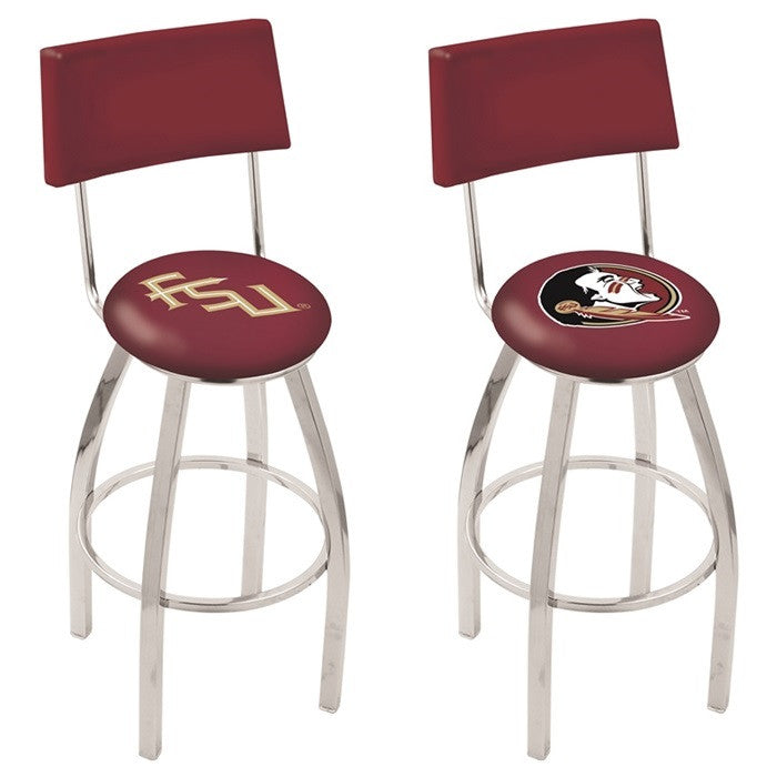 Florida State Seminoles Bar Stool with Back - Sports Fans Plus