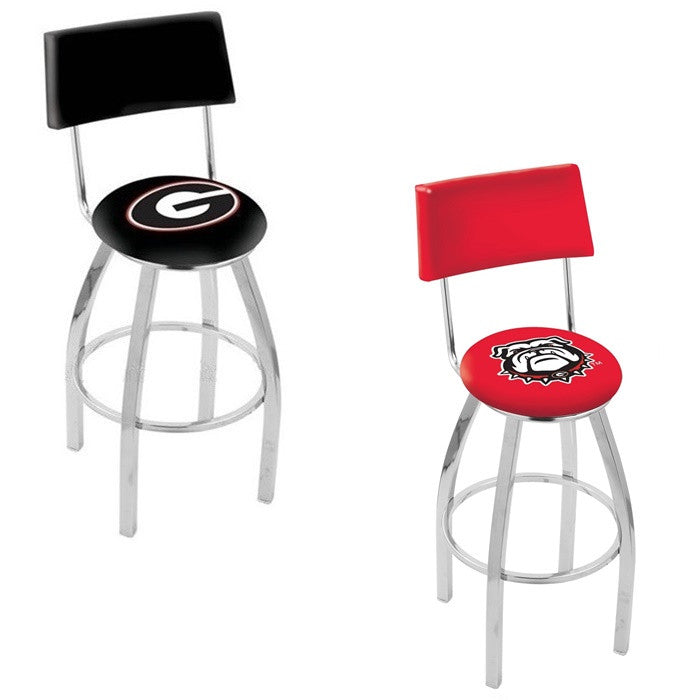 Georgia Bulldogs Bar Stool with Back - Sports Fans Plus - 1