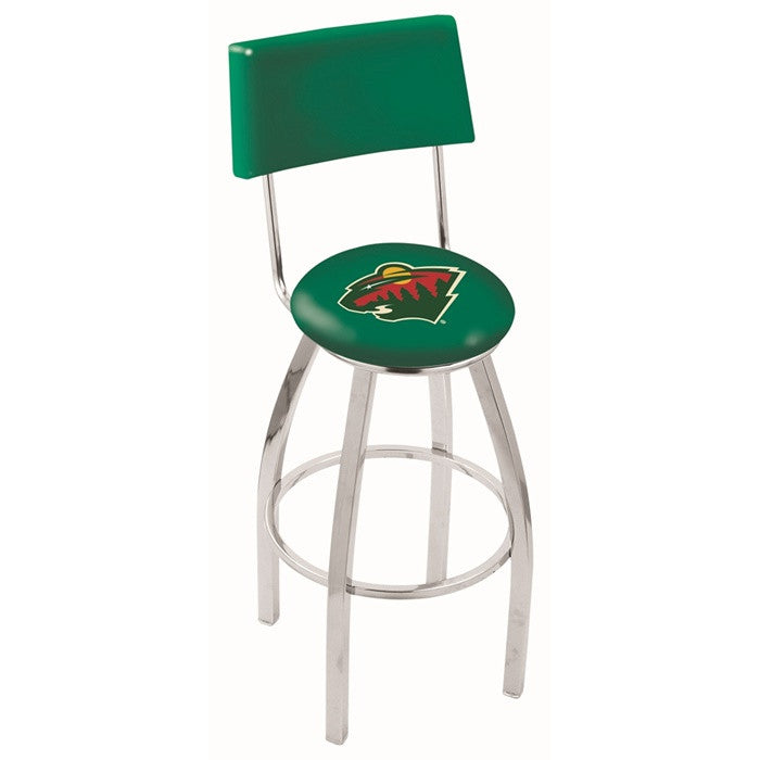 Minnesota Wild Bar Stool with Back - Sports Fans Plus