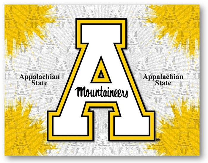 Appalachian State Mountaineers D1 Printed Logo Canvas