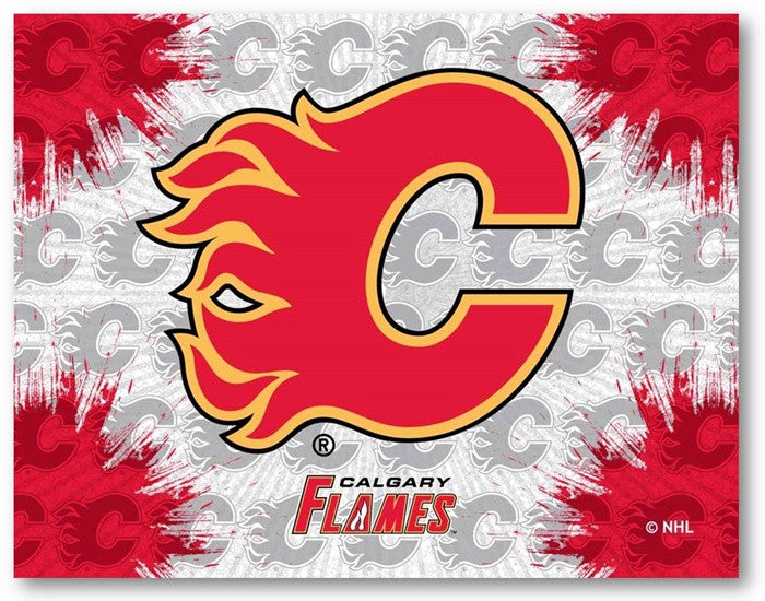 Calgary Flames NHL D1 Printed Logo Canvas
