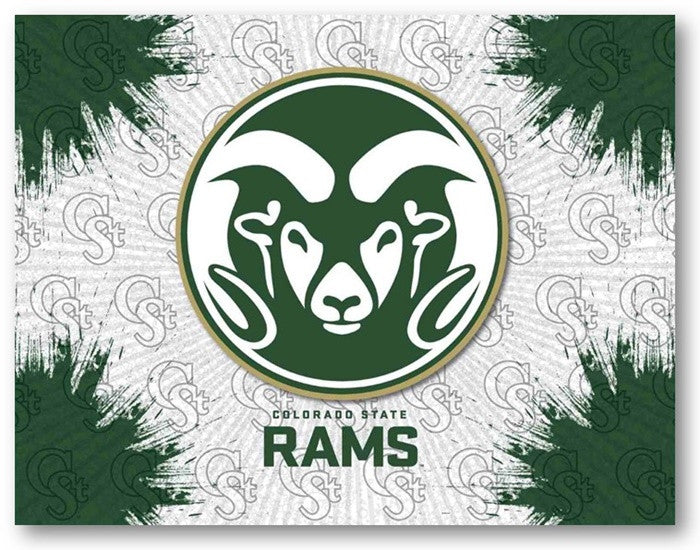 Colorado State Rams D1 Printed Logo Canvas