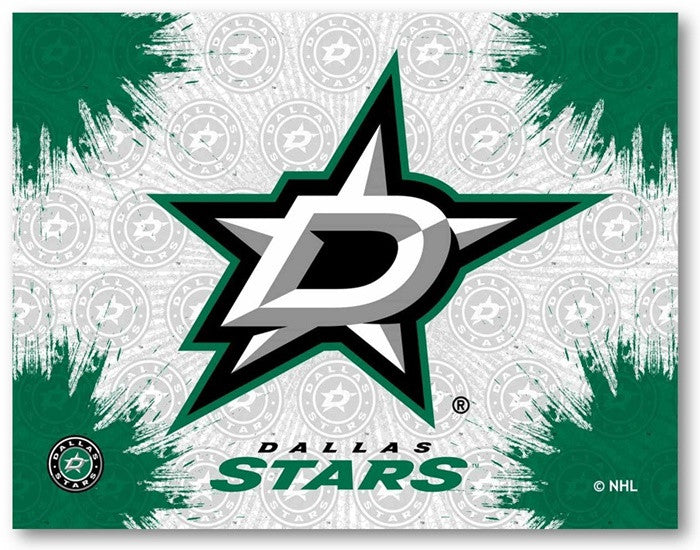 Dallas Stars NHL D1 Printed Logo Canvas
