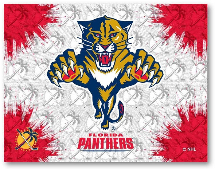 Florida Panthers NHL D1 Printed Logo Canvas