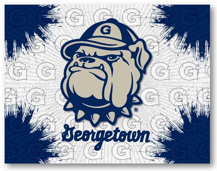Georgetown Hoyas D1 Printed Logo Canvas