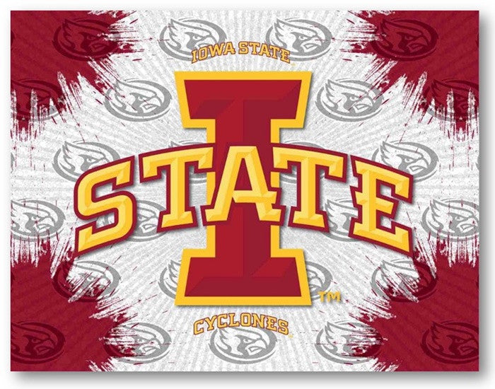 Iowa State Cyclones D1 Printed Logo Canvas