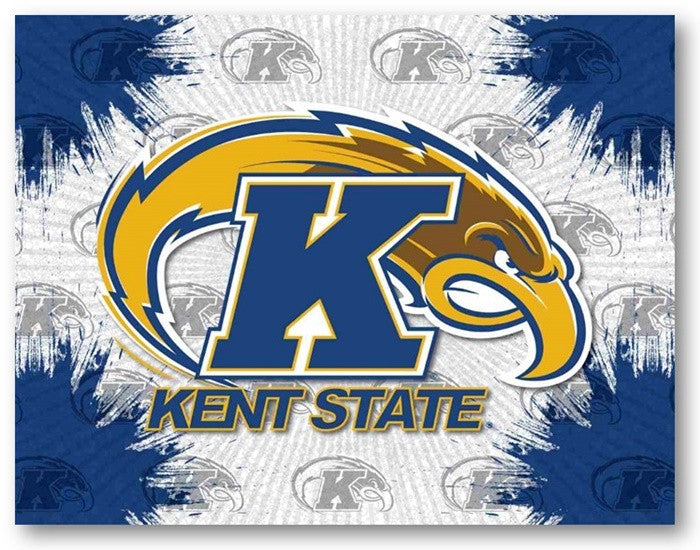 Kent State Golden Flashes D1 Printed Logo Canvas