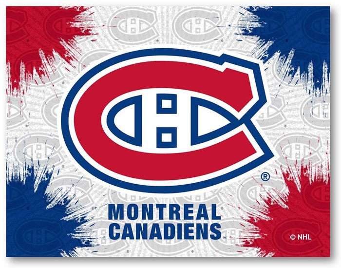 Montreal Canadiens NHL D1 Printed Logo Canvas
