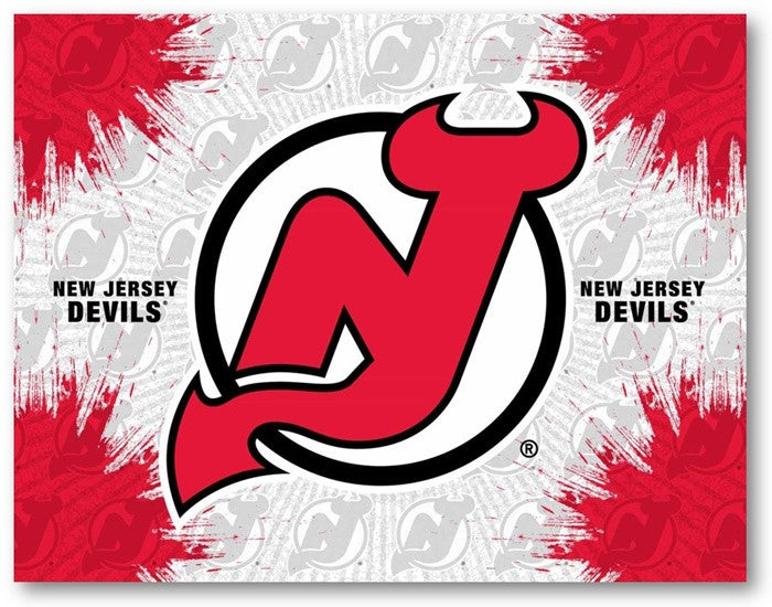 New Jersey Devils NHL D1 Printed Logo Canvas