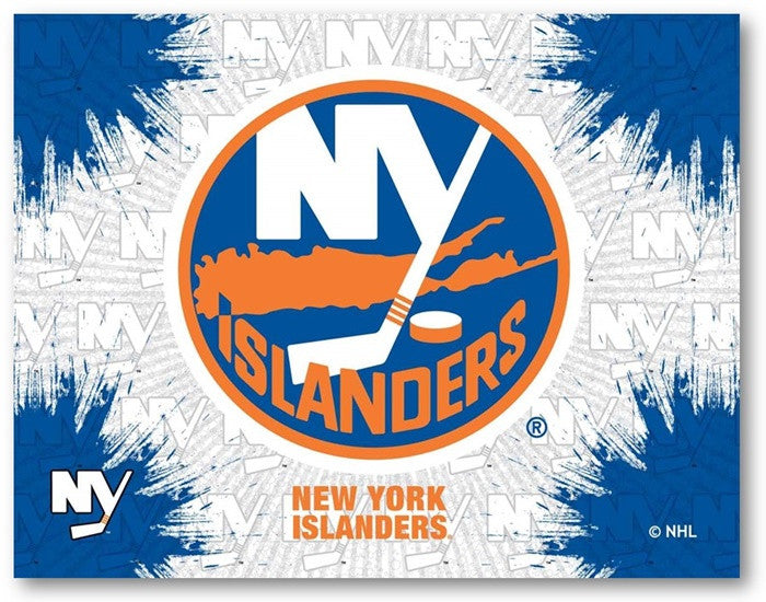 New York Islanders NHL D1 Printed Logo Canvas