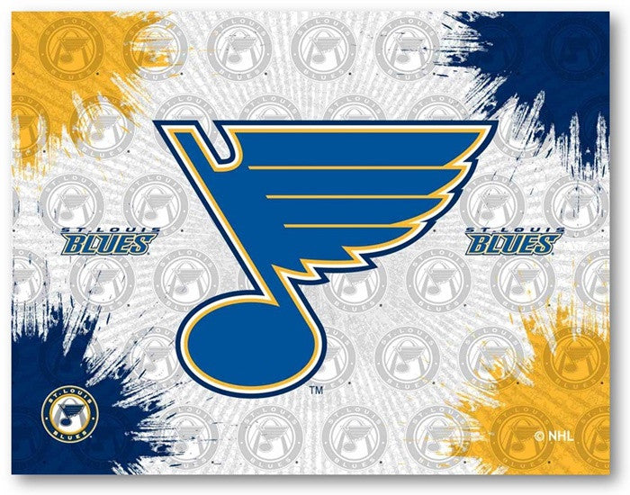 St. Louis Blues NHL D1 Printed Logo Canvas