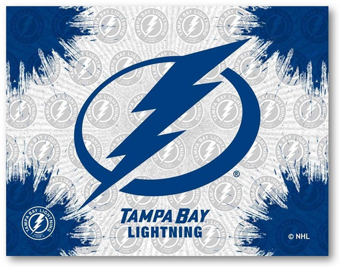 Tampa Bay Lightning NHL D1 Printed Logo Canvas