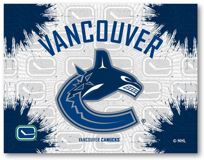 Vancouver Canucks NHL D1 Printed Logo Canvas