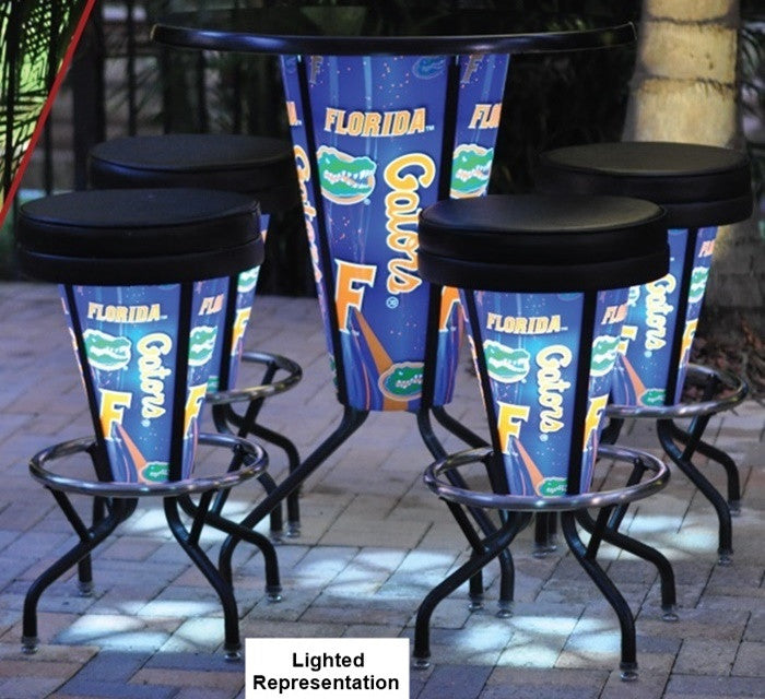 Black Lighted Pub Table Set
