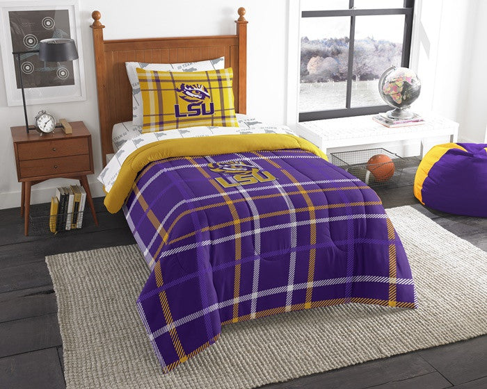 Louisiana State Tigers Twin Bed-in-a-Bag with Sheets