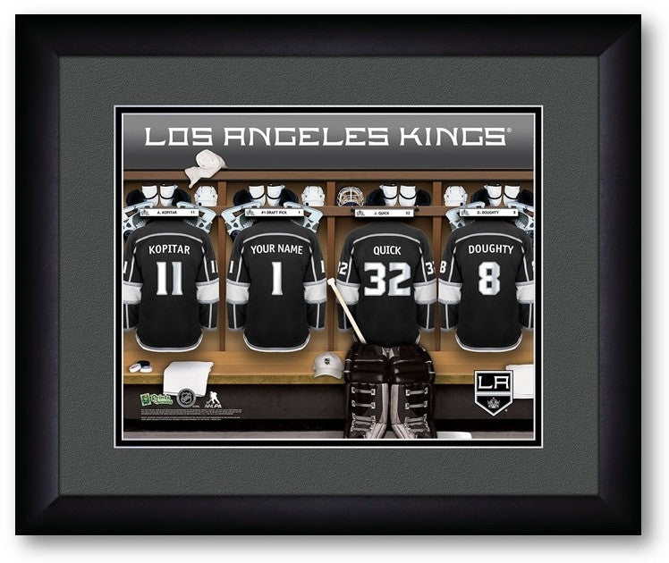 Los Angeles Kings NHL Personalized Locker Room Print - Sports Fans Plus  - 2