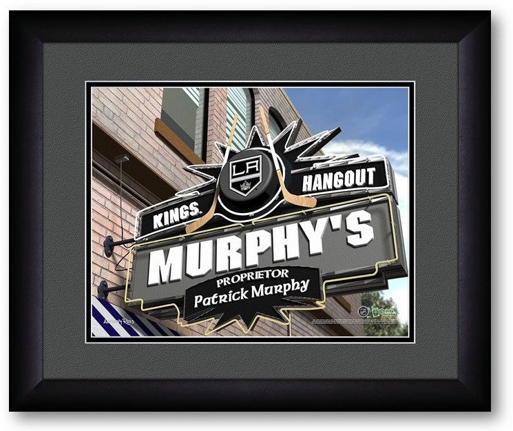 Los Angeles Kings NHL Personalized Pub Print - Sports Fans Plus  - 2