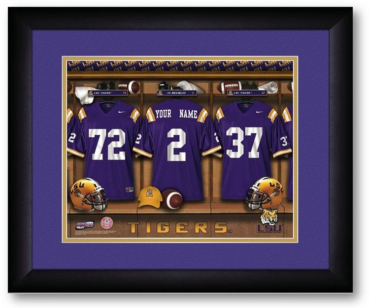 Louisiana State Tigers Personalized Locker Room Print - Sports Fans Plus  - 2