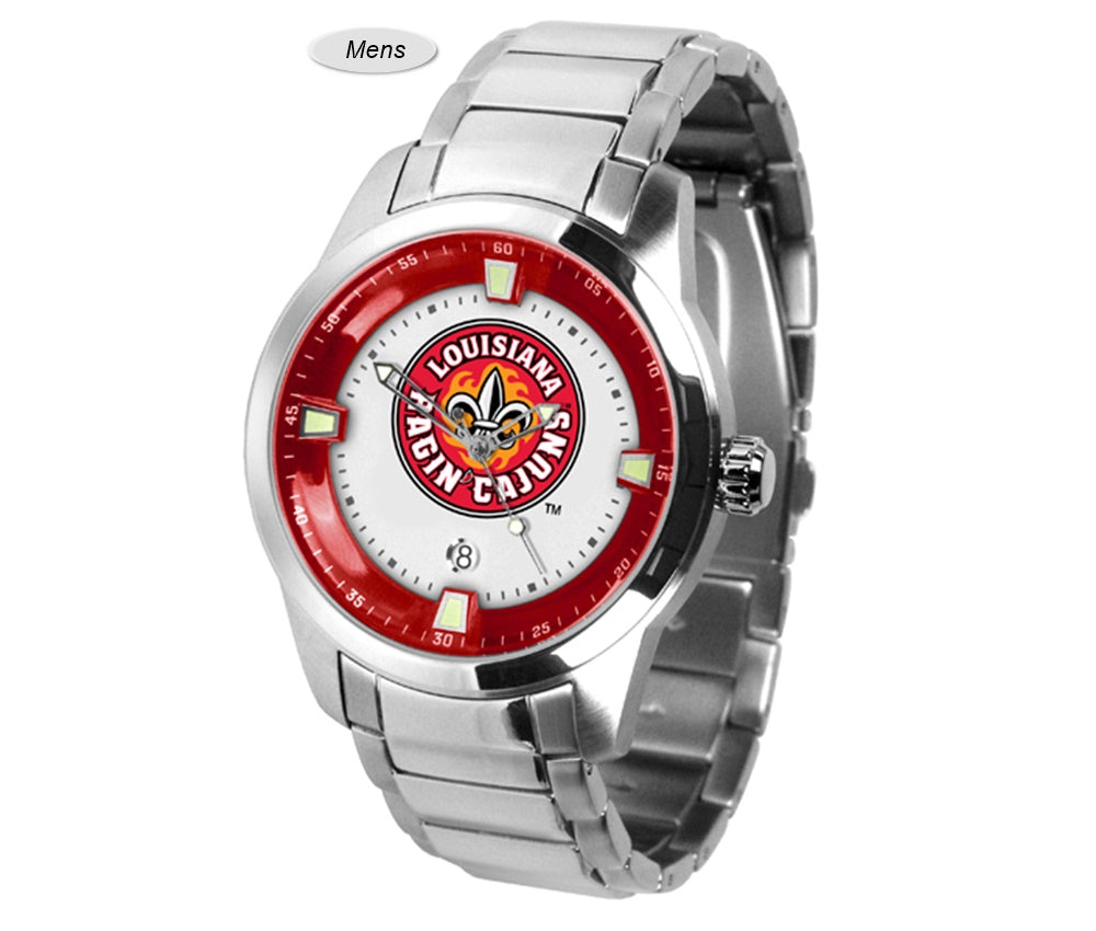 Louisiana Lafayette Ragin' Cajuns Titan Steel Watch