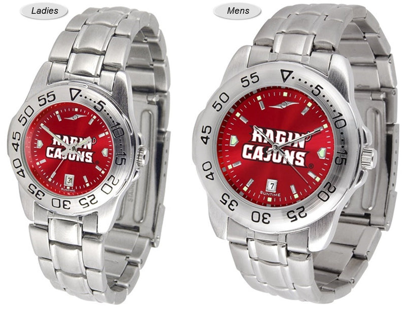 Louisiana Lafayette Ragin' Cajuns Sport Steel AnoChrome Watch