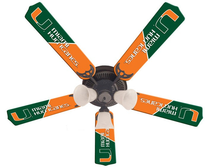Miami Hurricanes 52-Inch Ceiling Fan Kit - Sports Fans Plus