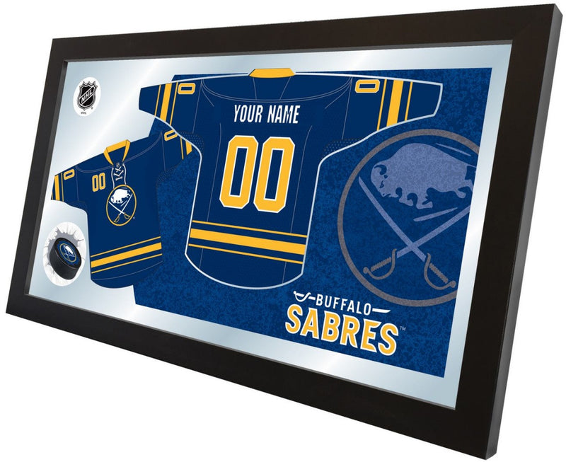 Buffalo Sabres NHL Jersey Mirror (side view)